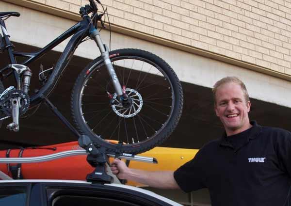 thule roof mounted bike rack