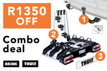 Towbar bike rack promo